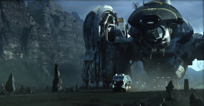 The Spaceship Prometheus (pictures 20th Century Fox)